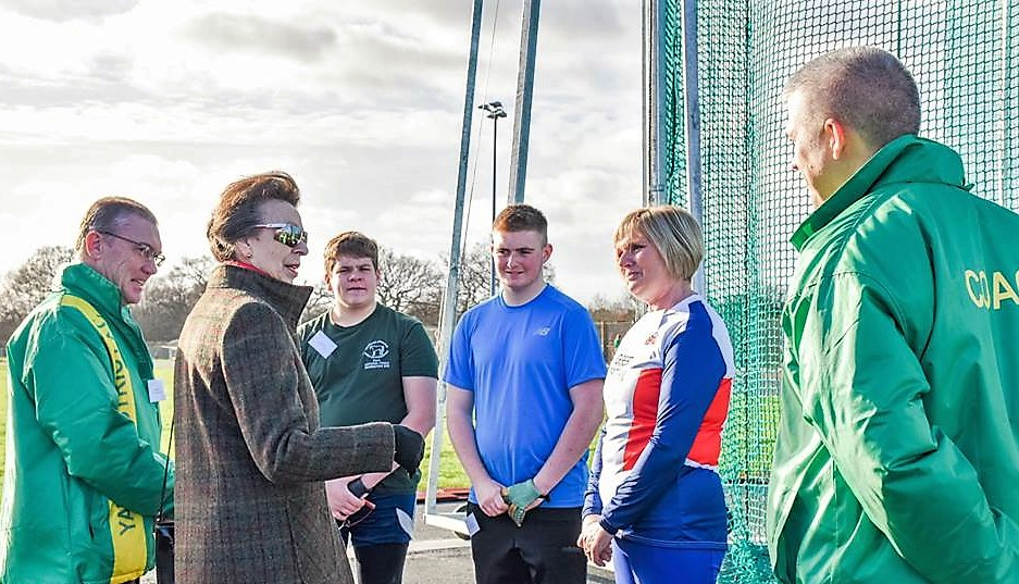 Princess visits Yate Outdoor Sports Complex