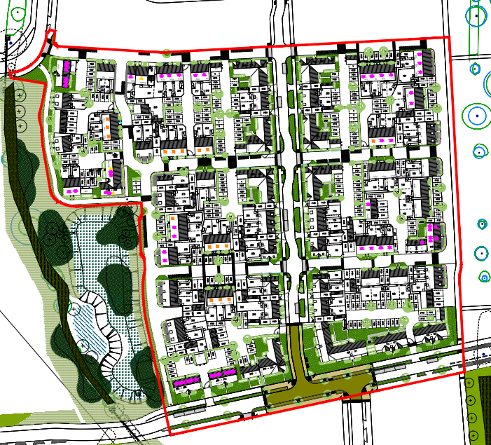 Layout sketch of the North Yate New Neighbourhood