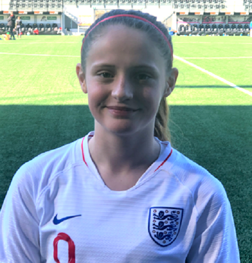 Lily makes her England debut