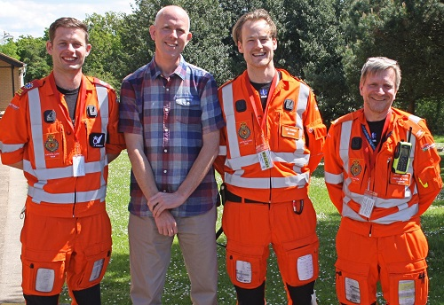 Ben Perrin with air ambulance team