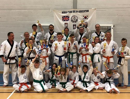 50 trophies for Chipping Sodbury Tang Soo Do martial arts club