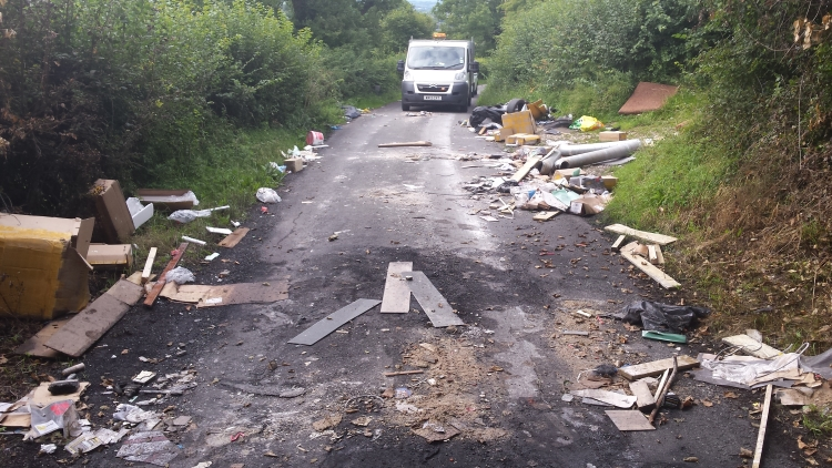 Yate rogue waste disposal man dumped rubbish in country lanes