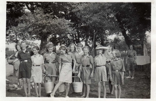 Guides in the 1950s. Iris Hudd