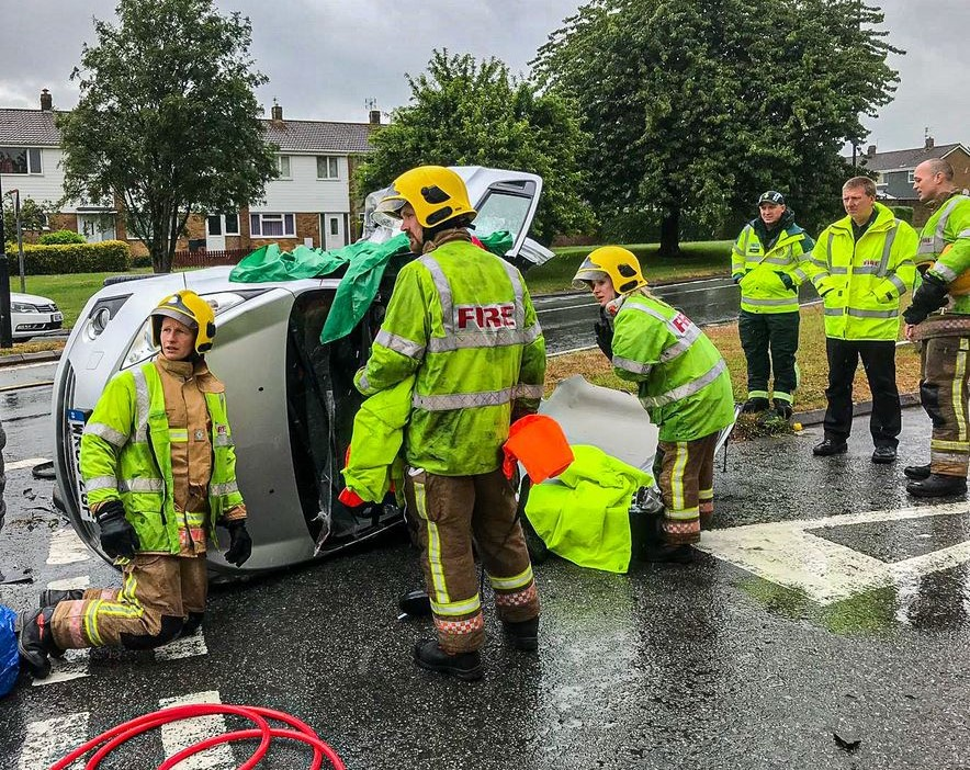 Woman cut free by firefighters after car crash in Yate