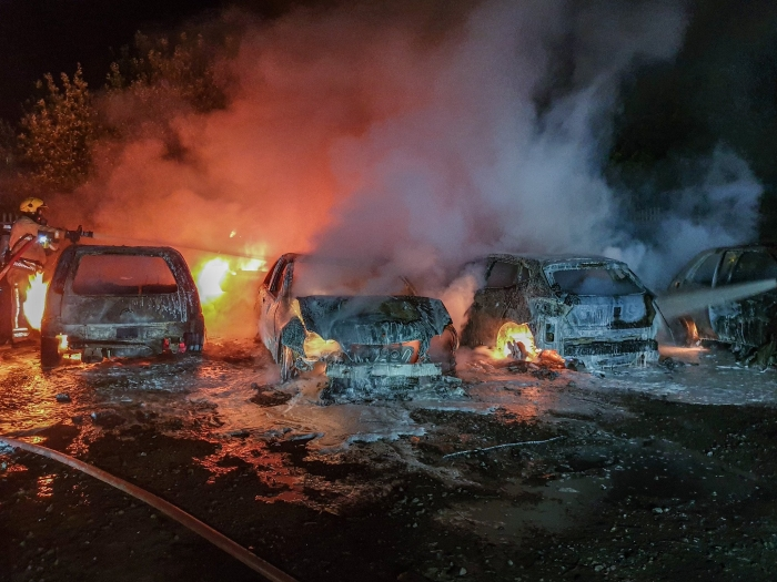 Cars and caravan destroyed in Yate arson attack