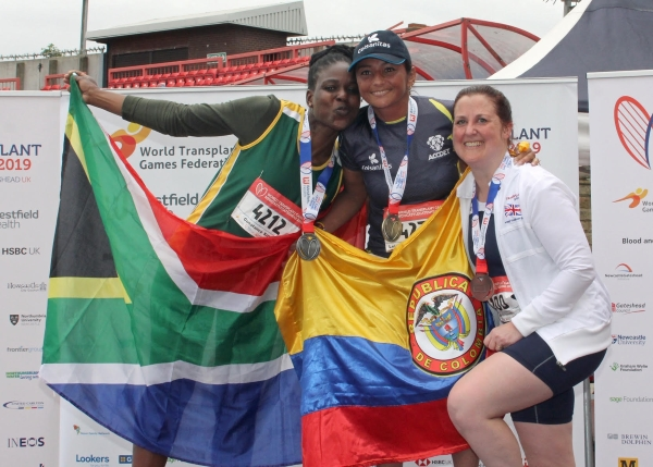 Medals for Ruth at World Transplant Games