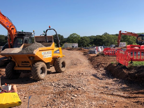 Builders move in on farm after planning fight