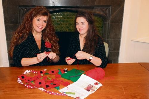 Women in Yate have been crocheting and knitting personalised poppies for each person from the town who died in the Great War.