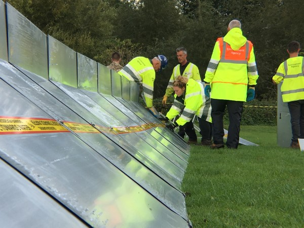 Flood barrier test for Chipping Sodbury