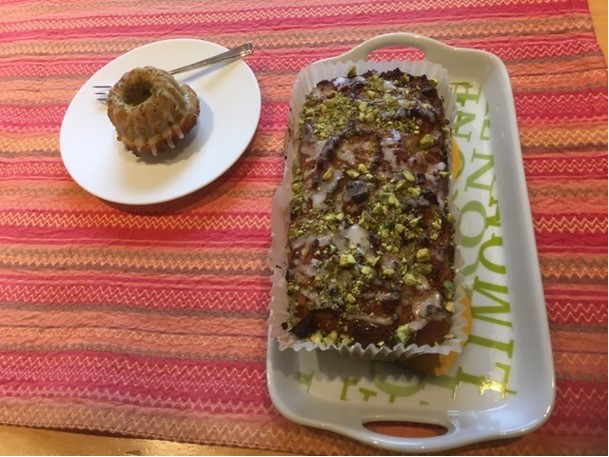 Recipe of the Month for December, with Ann Murray: Lemon and Pistachio Loaf Cake