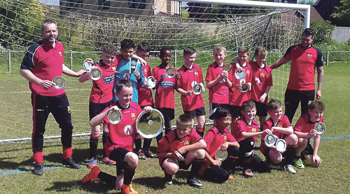 Yate youngsters celebrate football double