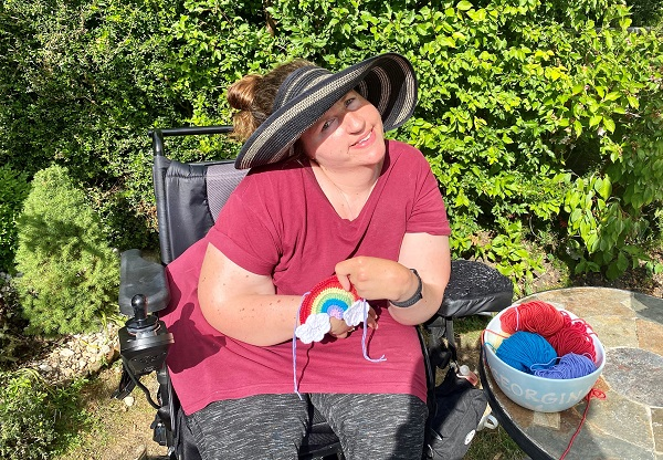 Georgina's joy at going outdoors again after coronavirus shielding