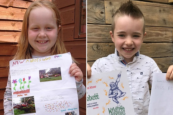 Chloe and Wilfred are winners of Yate writing competition