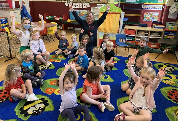Nursery children helped to hear thanks to Voice reader's generous donation