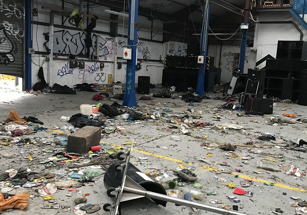 Eight arrests after illegal rave leaves Yate warehouse trashed