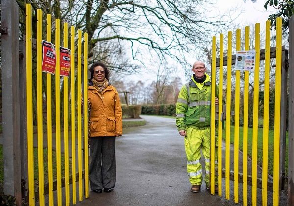 Yate park's colour-coded gates will help people find their way around