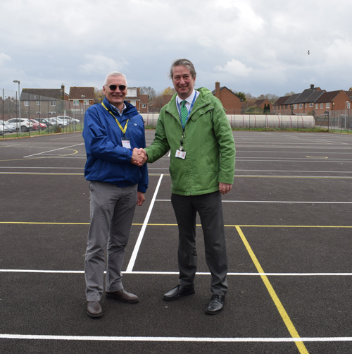 Sports courts improvements finished