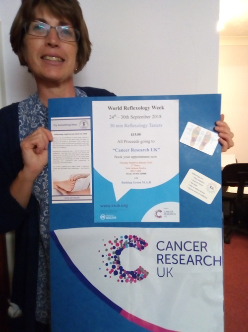 Reflexology to raise funds for cancer research
