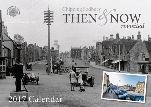 Past and present photographs combined for latest Chipping Sodbury calendar