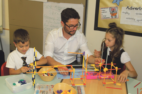Dads go back to school at Woodlands Primary