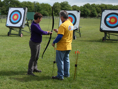 Budding archers invited to have a go