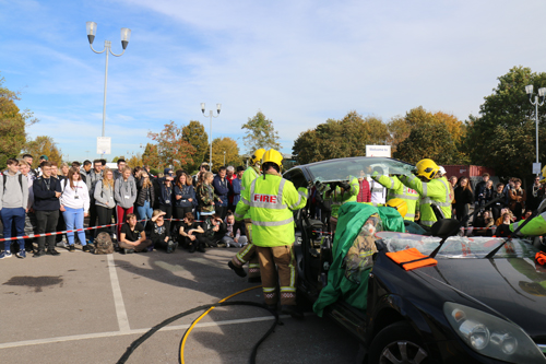 Yate fire crews help educate new motorists on road safety