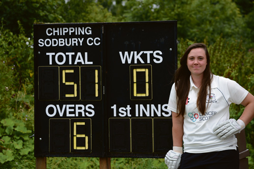 Naomi Forecast made Chipping Sodbury history when she became the first female player to score a half century