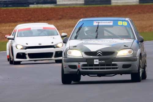Racing gets underway at Castle Combe
