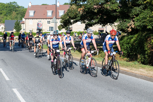 Cycling spectacular raises £25,000 for charity