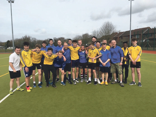 Students kick off in aid of Sport Relief