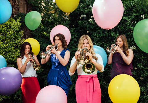 Award winning brass quartet blow their own trumpets