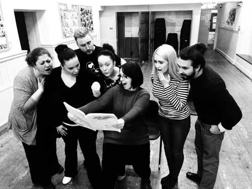 Return of the Forbidden Panet cast during rehearsals