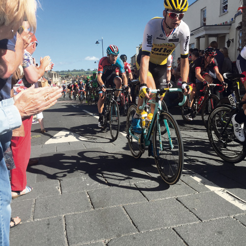Wiggo's farewell to road racing brings out the crowds as cycling spectacular arrives in Sodbury