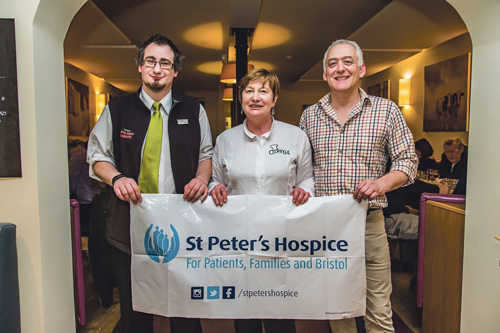Raising a glass to St Peter's Hospice